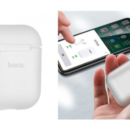 Hoco Silicone Transparent Carrying Case For Apple Airpods