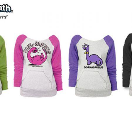 David & Goliath Animal Raglan Pocket Sweatshirt Ash Heather For Women - Fancy Schmancy - Size: Small