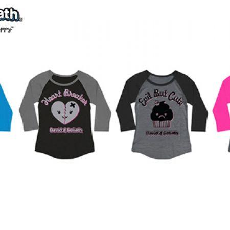 David & Goliath Rockin 3/4 Sleeve Raglan Sweatshirt For Women - I'm Like You But Hot - Size: XS