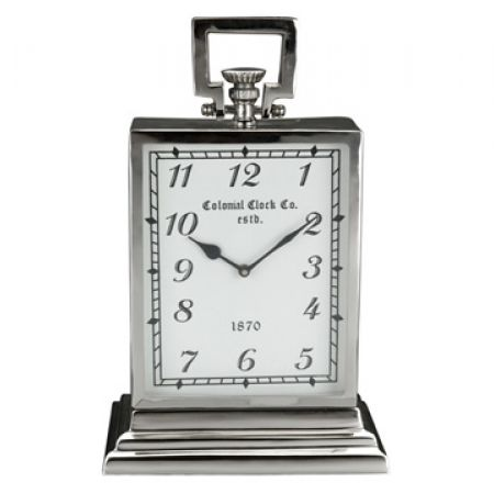 Table Clock With Steel Nickel Plated