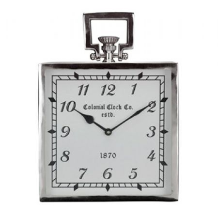 Wall Clock With Steel Nickel Plated 2.5 x 25.5 x 9.5 cm