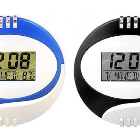 Digital LCD Desktop Clock - Blue