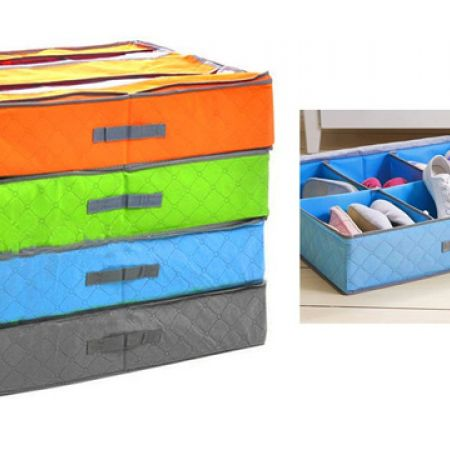 Underbed Shoe Storage Box 54 x 57 cm - Blue