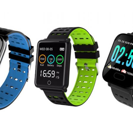 A6 Smart Watch Heart Rate Oxygen Monitor & Fitness Tracker Bracelet - Blue