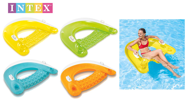 Intex Inflatable Sit N Float Swimming Chair With Handles 152 x 99 cm - Blue