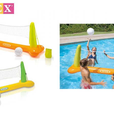 orange /& green Intex inflatable volleyball net /& volleyball best for pool games