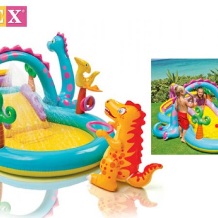Intex Inflatable Dinoland Paddling Pool Play Center 333 x 229 x 112 cm