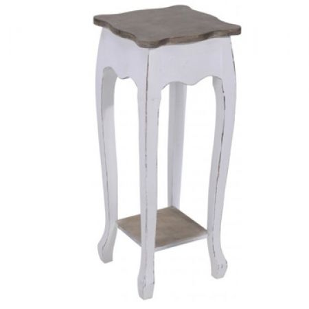 Rustic Wood Design Telephone Table 82.5 x 32 x 32 cm
