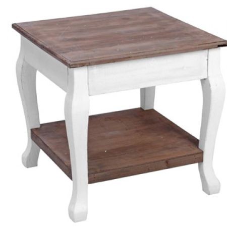 Square Wood Low Table 46 x 46 x 45 cm