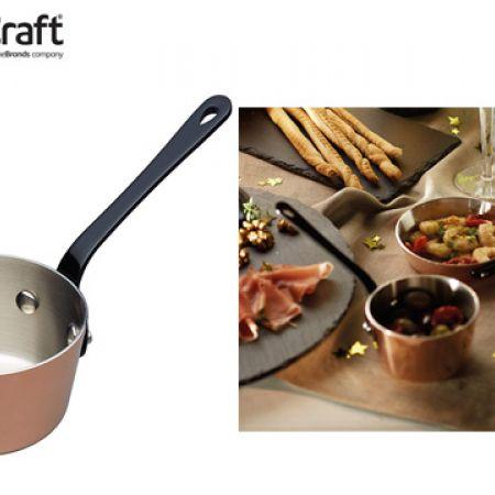 KitchenCraft Artesa Copper Tri-ply Mini Saucepan 10 cm