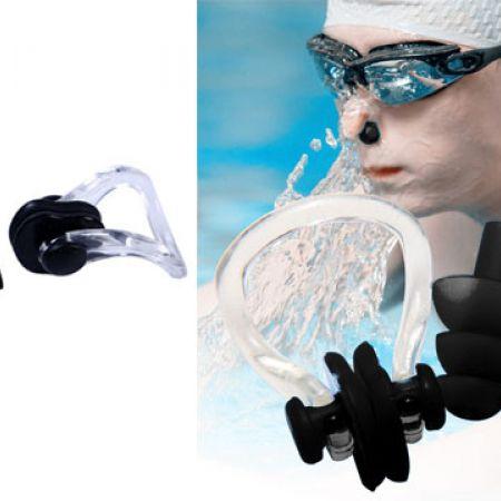 Sainteve Soft Waterproof Black Silicone earplugs & Nose Plug 3 Pcs