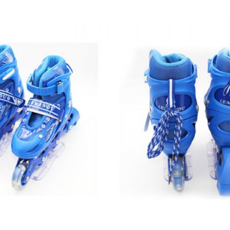 Lemandu Blue Roller Skating Size: 25-40