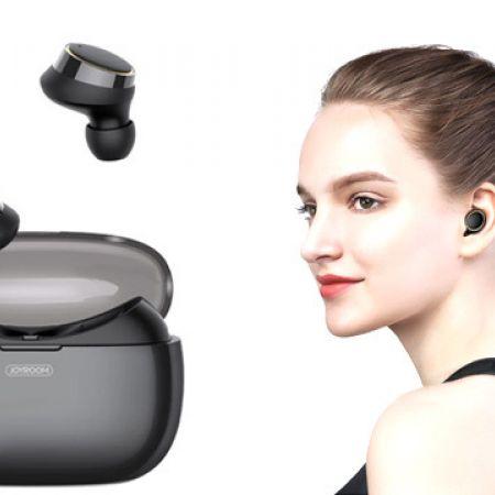 Joyroom JR-T05 Binaural Waterproof Bluetooth In-ear Earphones with Charging Box - Black