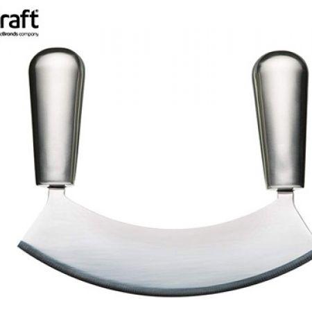KitchenCraft MasterClass Acero Stainless Steel Single Bladed Hachoir 18 cm