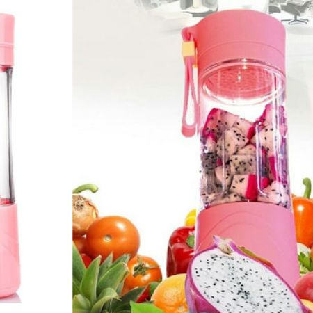 Juice Cup NG- 01 Pink Plastic Portable And Rechargeable Battery Juice Blender