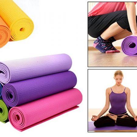 Cushioned Comfort Yoga & Exercise Mat 173 x 61 cm - Blue