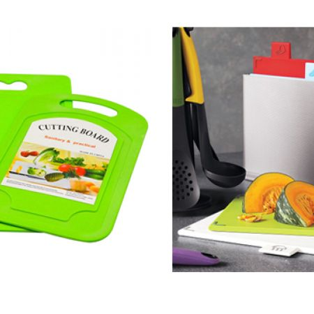 Set Of Kitchen Multipurpose Cutting Board With Stainless Steel Knife 2 Pcs