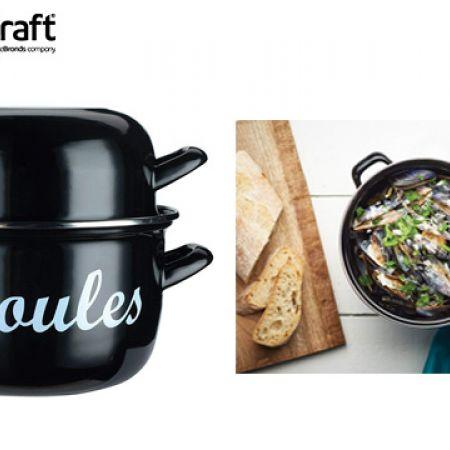 KitchenCraft World of Flavours Mediterranean Individual Mussels Pot - 12 cm