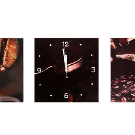 Set Of Wall Art Decor Picture Canvas With Clock