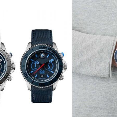 Ice Watch BMW Motorsport Black Canvas Chronograph Round Watch For Men - Blue