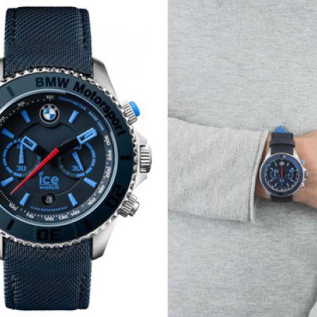 Ice Watch BMW Motorsport Canvas Chronograph Round Watch For Men - Blue