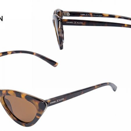 95d8be7a9dd5 Daniel Klein DK-4274 Trendy Coffee Polarized Cateye Shade Fade Sunglasses  For Women - Makhsoom