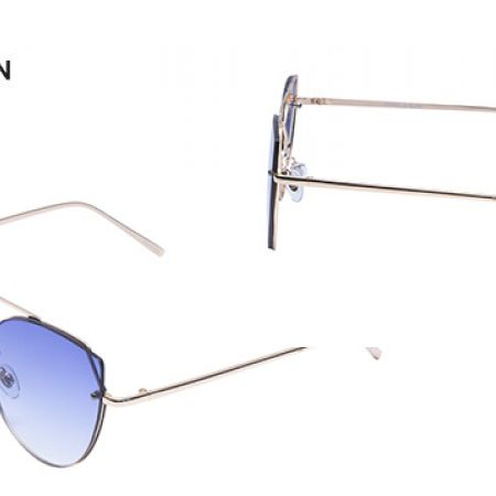 a340aefd8954 Daniel Klein DK-4280 Trendy Blue Polarized Cateye Shade Fade Sunglasses For  Women - Makhsoom