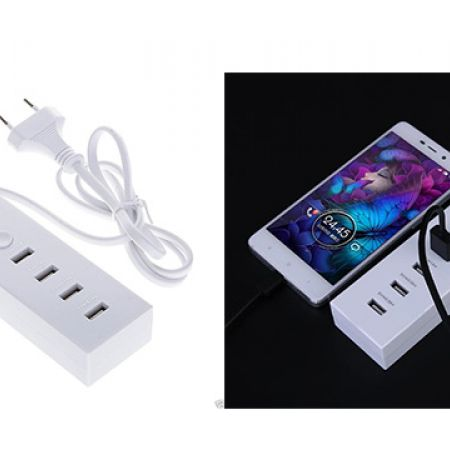 Fast Charging 4-Port Universal USB Power Strip Portable Charger