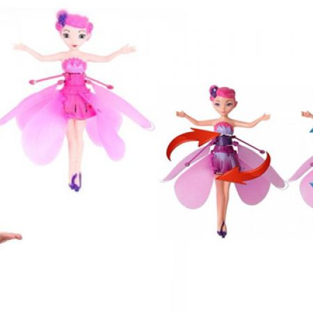 Hand Sensor Induction Colorful Led Light Flash Flying Fairy Magical Doll 18 x 13 x 4.5 cm