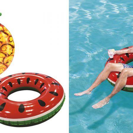 Bestway Inflatable Fruit Pool Float Beach Swimming Ring 133 cm - Watermelon