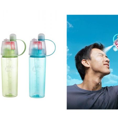 Protable Sports Plastic Cup Spray Water Bottle 600 ml - Blue