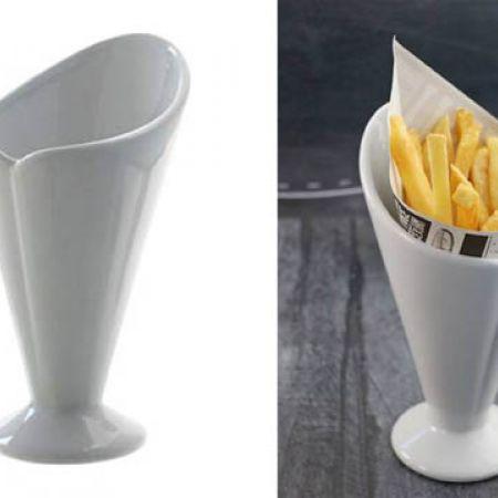 White Porcelain Fries Serving Dish