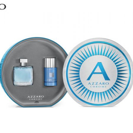 Azzaro Chrome 2 Pcs Gift Set EDT 50 ml & Deodorant 75 ml For Men