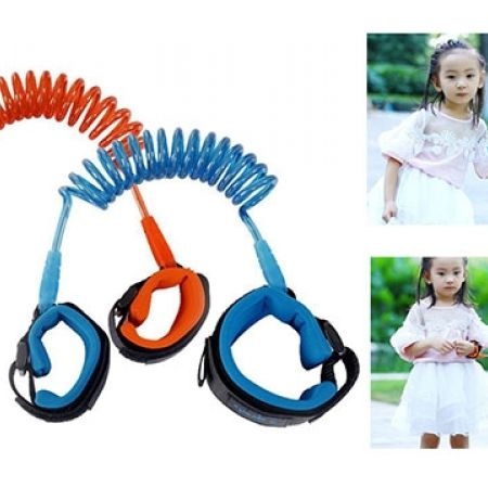 Adjustable Kids Safety Anti-Lost Wrist Bracelet Walking Hand Belt 1.5 m - Blue