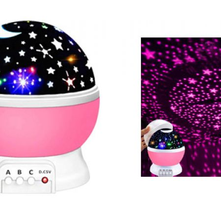 Star Pink Projector Moon Lamp Starry USB Night Light