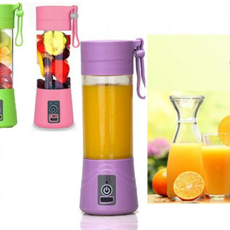 Portable & Rechargeable Battery Juice Blender 423 ml - Green