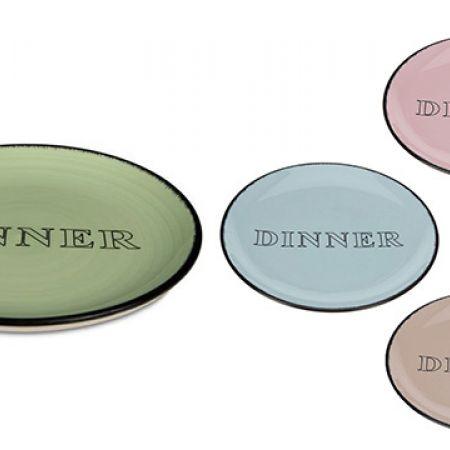 Ceramic Dinner Plate 26 cm - Green