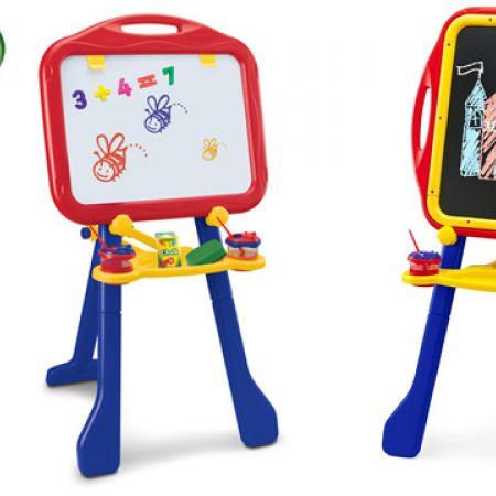 Crayola 4-in-1 Tripod Easel With Dry-Erase Board & Chalkboard 33 x 18.75 x 20 inch