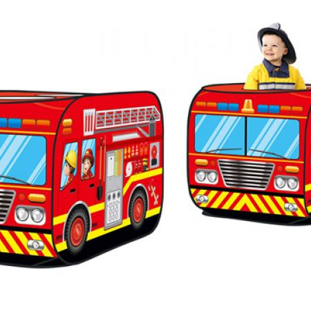 Fire Truck Pop Up Play Tent With 50 Balls 112 x 72 x 72 cm