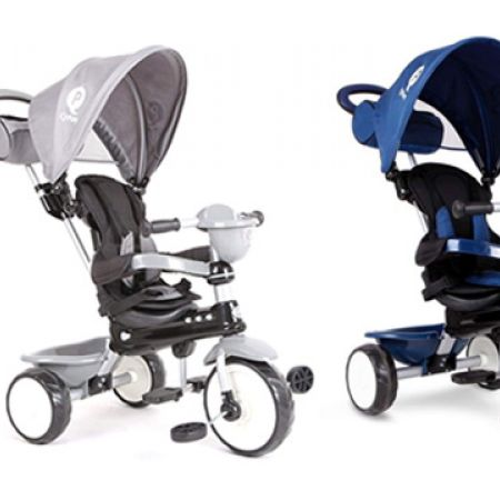 QPlay 4 In 1 Comfort Wheel Tricycle - Grey