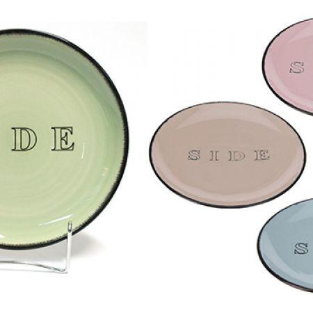 Ceramic Side Plate 20 cm - Green