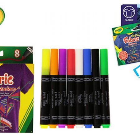 Crayola 8 BroadLine Fabric Markers