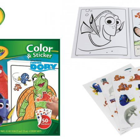 Crayola Disney Finding Dory 32-Page Color & Sticker Book