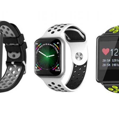 Smart Watch F8 Touch Screen Bluetooth Sports Fitness Tracker - Black Grey