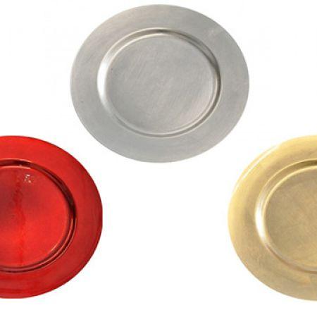 Decorative Plastic Round Underplate 33 cm - Gold