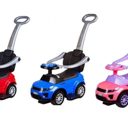 Baby Roller Car With Handles - Pink