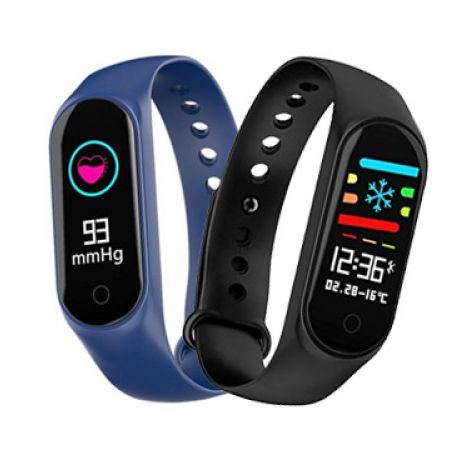 M4 Smart Bracelet Fitness Tracker Watch - Black