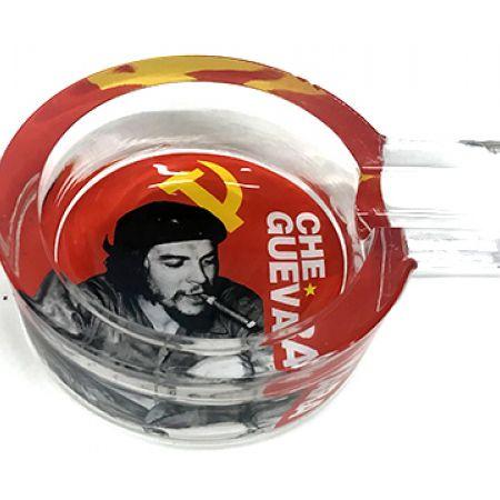 Single Che Guevara Design Crystal Glass Cigar Ashtray 9 x 12 cm