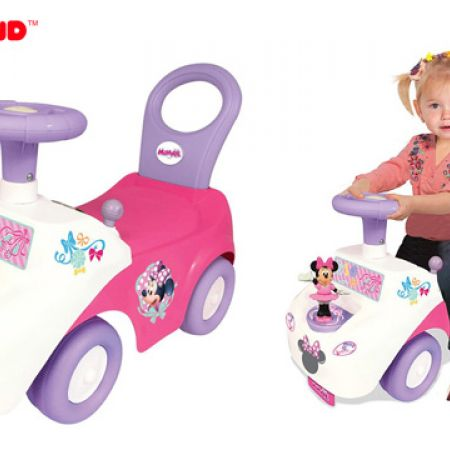Kiddieland Minnie Mouse Dance N Twirl Ride-On With Flashing Lights & Realistic Sounds