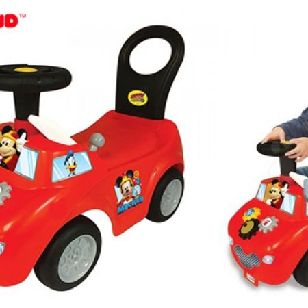 Kiddieland Mickey Mouse Roadster Ride-On With Flashing Lights & Realistic Sounds